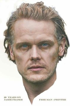 I have no idea if this might be similar to how we'll actually see Jamie in Voyager, but this is a great mock-up. He'll need longer hair though, eh? Kudos to the artist! Outlander Book 3, Diana Gabaldon Outlander Series, Outlander Casting, Sam Heughan Outlander, Jaime Fraser, Netflix, Jamie And Claire, Caitriona Balfe, Beautiful Men