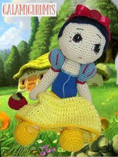 Patrón Blancanieves, Princesa de Crochet
