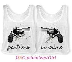 Partners in Serious Crime Matching Best Friend Shirts