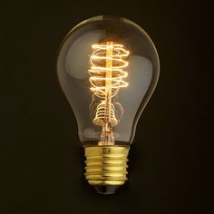 The Spiral - Edison filament bulbs works great for the industrial cafe look you are yearning for! Suitable for any E27 light bulb holders.