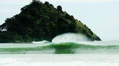 """Coromadel wedge, looking entirely inviting. """"April is the tail end of the tropical season in the area and northerly to westerly tropical-produced swells can still pop up,"""" says Wallis. Photo: Rambo Estrada"""