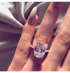 Oval Cut Light Pink Diamond 4 Prong Engagement Ring Solid White Gold … carat pink diamond engagement ring with 4 oval cut tines, solid, white gold Bridal Rings, Wedding Rings, Wedding Nails, Gold Wedding, Rustic Wedding, Wedding Reception, Wedding Ideas, Boho Chique, Dream Engagement Rings