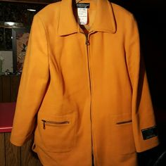 Ladies jacket Mustard colored wool material Jackets & Coats Blazers