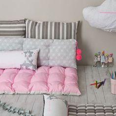 kids room / pretty floor cushions