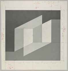 Josef Albers (German/American, 1888–1976) / Untitled (for Never Before), ca. 1976, halftone screen with ink and graphite, 25.4 × 24 cm