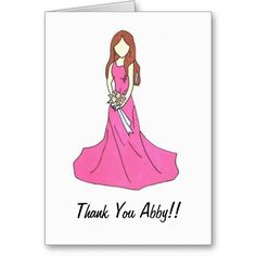Shop Bridesmaid Thank you Card 2 created by danascott. Thank You Greeting Cards, Thank You Greetings, Custom Thank You Cards, Bridesmaid Thank You Cards, Button Crafts, Aurora Sleeping Beauty, Prints, Color, Wedding Ideas