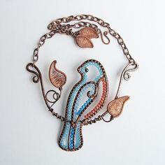 Quiet Bluebird Necklace by Ruth Jensen, via Flickr