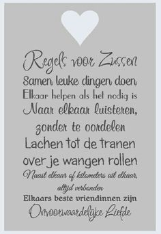 Van en voor mijn zusjes. Sign Quotes, Words Quotes, Qoutes, Sayings, Quotes For Kids, Family Quotes, Happy Quotes, Best Quotes, Sister Love
