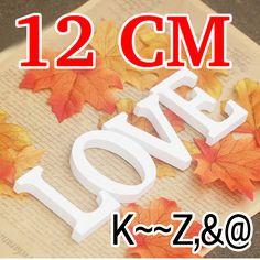 12 CM Decorazione di Cerimonia Nuziale Artificiale di Legno Lettere di legno Matrimonio Compleanno decorazione di nozze A Casa Lettere Bianche per nome o il logo
