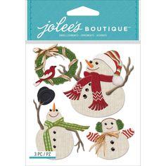 Jolee's Boutique Dimensional Stickers Snowmen
