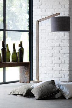 -Medium Chablis Glass Bottle po.st/GihRLP -Medium Port Glass Bottlehttp://po.st/cKzO5M -Shabby Linen Cushion po.st/uK5Qgr -Cantilevered Mango Floor Lamp po.st/5LhMoM