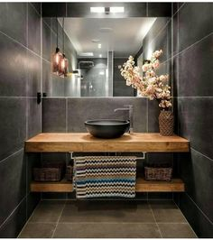 Luxury Bathroom Master Baths Dark Wood is certainly important for your home. Whether you pick the Bathroom Ideas Master Home Decor or Master Bathroom Ideas Decor Luxury, you will create the best Luxury Bathroom Master Baths Paint Colors for your own life. Bathroom Renos, Grey Bathrooms, Beautiful Bathrooms, Bathroom Remodeling, Remodeling Ideas, Bathroom Ideas, Master Bathroom, Master Baths, Budget Bathroom