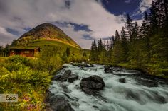 A piece of Paradise ( re upload) by doraartem  Europe Hill House Landscape Nature Norway River Trollstigen A piece of Paradise ( re upload) doraart