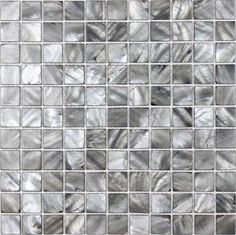 shell tiles 100% grey seashell mosaic mother of pearl tiles kitchen backsplash tile design BK012 | Hominter.com $20.00 sq ft