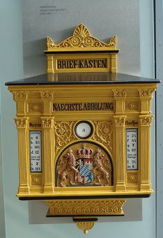 antique German mailbox