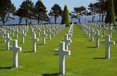 American cemetery & WWII memorial in Normandy, France