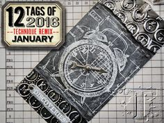Tim Holtz: 12 tags Jan 2016