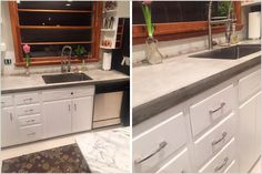 Here is a look at the last steps in created a cast in place concrete countertop. If you missed the first steps, catch up by looking back at part 1 and part 2. At this point, the concrete has all been poured and has cured over several days. If you look back at part 2, … … Continue reading →
