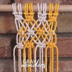 Macrame Design, Macrame Art, Macrame Projects, Macrame Knots, Macrame Plant Hanger Patterns, Free Macrame Patterns, Macrame Wall Hanging Patterns, Rope Crafts, Yarn Crafts