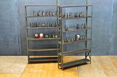 Lupton Industrial Shallow Bookshelf : 20th Century Vintage Industrial Modern50 Style