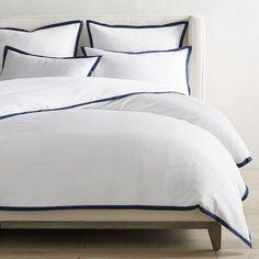 Luxury Duvet Covers, Bed Duvet Covers, Luxury Bedding, Williams Sonoma Furniture, Flannel Duvet Cover, King Sheet Sets, Bedding Shop, White Bedding, Cover