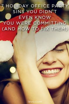 Holiday office party dont's www.levo.com