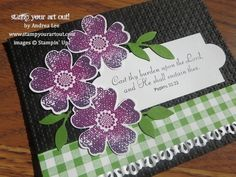 Stampin' Up!® Flower Shop Bundle Card - Stamp Your Art Out!