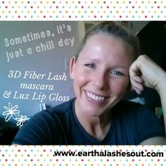 This is my typical everyday natural makeup, 3D Fiber Lash mascara & my Lux Lip Gloss, (or my Lip Stain). Perfect for summer! www.earthalashesout.com  #summer #naturalmakeup #fiberlashmascara