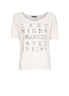 Last Night a Blogger Saved My Life Tee