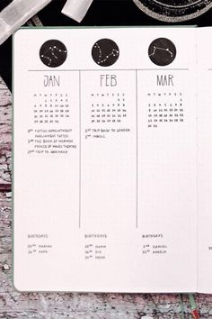 Check out the best bullet journal future log spreads for inspiration! Bullet Journal Yearly, Bullet Journal Notebook, Bullet Journal Spread, Bullet Journal Layout, Bullet Journal Ideas Pages, Bullet Journal Inspiration, Journal Pages, Journals, Bujo