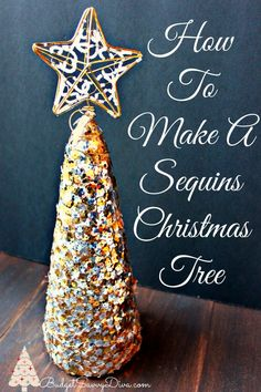How To Make A Sequin Christmas Tree - simple and easy -- plus it is really inexpensive to make!