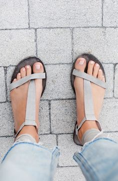 Grey lace up sandals