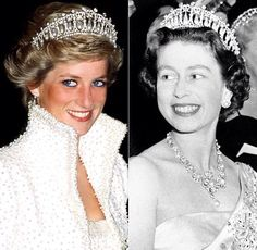 Diana and the queen rocking the tiara.