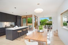 Spectacular residence with city views, scandi dining table & chairs, 25 Paling Street, Lilyfield, Pilcher Residential