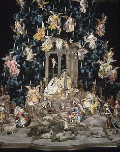 """The Virgin as she appears in the MMA Creche, the centerpiece with the  Baby Gesu, in the classic Creche, or  """"Presepe"""" as is found in any Neapolitan home, and in millions of  profoundly beautiful variations in homes around the globe."""