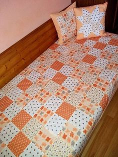 LubkaPatchwork / Prehoz na posteľ Patchwork Quilts, Blanket, Bed, Scrappy Quilts, Stream Bed, Quilt Sets, Blankets, Log Cabin Quilts, Beds