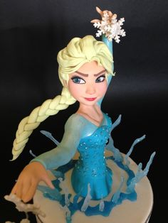 Elsa Cake Tutorial ~ In Italian, but so many great pictures, it's worth translating!