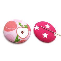 Plum Needle Minder-Reversible Needleminder-Magnetic-Cross Stitch-Embroidery-Sewing-Needlepoint-Fruit Needle Minder-Handmade Supply