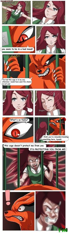 Kushina is really hot pepper #Kyuubi #naruto #Kushina(by bocodamondo)