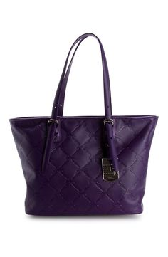Longchamp - Large LM Cuir Tote Bag in Amethyst