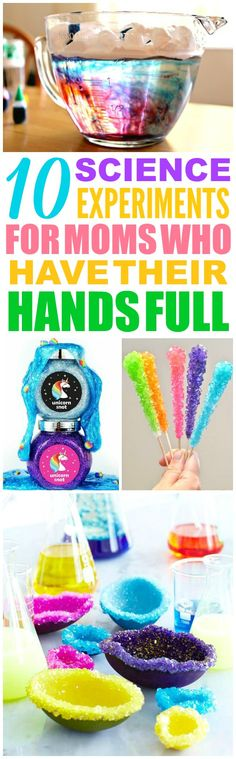 These 10 kids science experiments are THE BEST! I'm so glad I found these GREAT ideas! Now I have a great way to make science experiments for kids and keep them busy this summer! Definitely pinning!