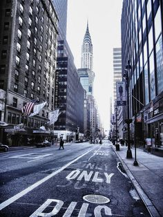 Great perspective shot of the Chrysler Building New York .
