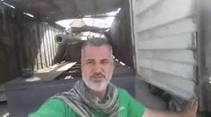 ISIS rebuilt tanks inside a trailer truck to hide it from airstrikes and to move around fast, Iraq Federal Police has captured 2 in Mosul