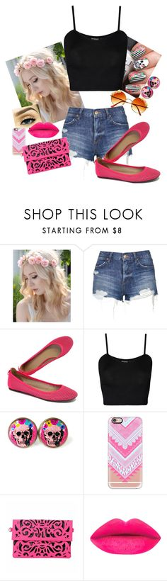 """""""Hot Skull"""" by itsatra ❤ liked on Polyvore featuring Wild Rose, Topshop, J.Crew, WearAll, cutekawaii, Casetify and INDIE HAIR"""