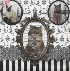 Tireless Cats Kittens Winter 2 Single Lunch Size Paper Napkins For Decoupage 3-ply Other Home Arts & Crafts Crafts