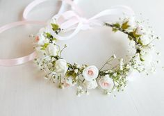 Flower Girl Crown Toddler Crown Baby's Breath & by HandyCraftTS More