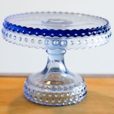 So pretty...A Lovely Blue Cake Plate for Bonnie Blue...this Board all started with this Bonnie...just for you!
