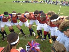 USA Quidditch got fired up before their game against France.