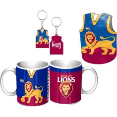 Brisbane Lions Giftpack.  This Great Pack Features: Guernsey Design Mug, Keyring, & Stubby Cooler.  To see the full range of AFL merch, visit www.shop.afl.com.au