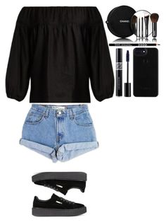"""""""Untitled #383"""" by dutchfashionlover ❤ liked on Polyvore featuring Chloé, Levi's, Puma, Christian Dior and Chanel"""